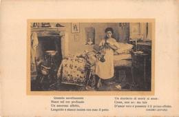 "3188 "" G. INDUNO-MEMORIE"" STROFA DI G. LEOPARDI- CARTOLINA POSTALE  ORIGINALE NON SPEDITA - Pittura & Quadri"