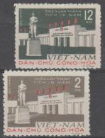 NORTH VIETNAM - Mint No Gum As Issued 1960 Exhibition. Scott 142-143 - Vietnam