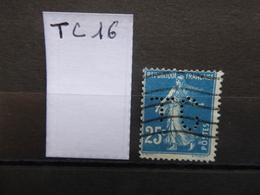 FRANCE  Perfin  Perforé TC 16  Indice 7 - France