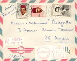 MAROC FRANÇAISE. Cover From Rabat To France. Year 1959. Registered Maild. Postal History. - Marruecos (1956-...)