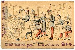 - N° 12 - Humour Militaire - La Visite, Collection Godfroy, Peu Courante, Non écrite, BE, Scans. - Humour