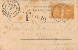 TURKEY. Card From Rhodes To Vitoria (Spain), 6/5/1907. Tax 10 Cts.  Postal History. - 1858-1921 Imperio Otomano