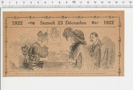 2 Scans Humour Cartomancienne Tireuse De Cartes Lignes De La Main Marc De Café Voyance / Tête Poire Fruit  226G - Vecchi Documenti