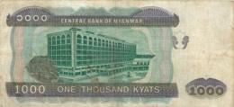 BILLET MYANMAR 1000 ONE THOUSAND KYATS - Myanmar