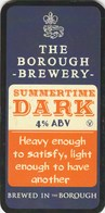 THE BOROUGH BREWERY (LANCASTER, ENGLAND) - SUMMERTIME DARK - PUMP CLIP FRONT - Signs