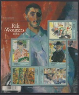 België O.B.C  Blok 241   (4621 / 4625)    (XX)  Rik Wouters  2016 - Blocks & Sheetlets 1962-....