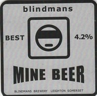 BLINDMANS BREWERY (LEIGHTON, ENGLAND) - MINE BEER - PUMP CLIP FRONT - Signs