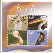 2015 Ghana Birds Of Ghana Complete Set Of 2 Sheets  MNH  BELOW FACE VALUE - Ghana (1957-...)