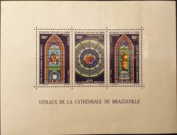 Vitraux De La Cathèdrale De Brazaville Bloc N°9 - Congo - Brazzaville