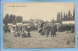 Caen Champ De Courses 2scans 1917 Cachet Hexagonal Dépôt Des Prisonniers De Guerre De Caen Annexe De Gare Chef - Caen