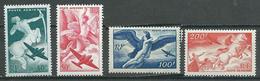 France Poste Aérienne YT N°16/19 Série Mythologique Neuf ** - 1927-1959 Mint/hinged