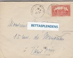 LSC 1937 - Cachet CONSTANTINE - EL MILIA  Sur YT 112 - Briefe U. Dokumente