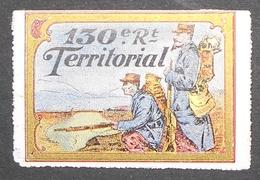 France Vignette Militaire Delandre 130e Territorial - Commemorative Labels