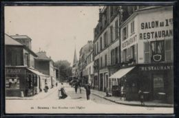 Sceaux - CP Ancienne - Rue Houdan Vers L'Eglise - Voir Scans Recto + Verso - Sceaux