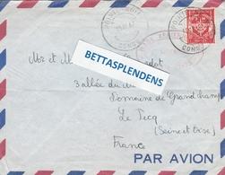 LSC 1962 - Cachet POINTE NOIRE - CONGO Sur Timbre FM Et Cachet BASE AERIENNE - Congo - Brazzaville