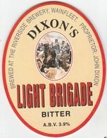 DIXON'S BREWERY (WAINFLEET, ENGLAND) - LIGHT BRIGADE BITTER - PUMP CLIP FRONT - Signs