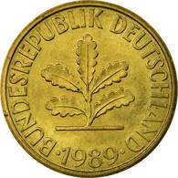 Monnaie, République Fédérale Allemande, 10 Pfennig, 1989, Karlsruhe, TTB+ - 10 Pfennig