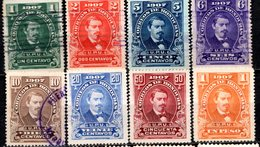 HONDURAS - (1ère République) - 1907 - N° 100 à 107 - (Lot De 8 Valeurs Différentes) - (Président José Medina) - Honduras