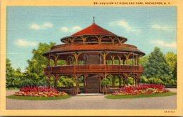 New York Rochester Pavilion At Highland Park Curteich - Rochester