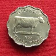 Guernsey 3 Pence 1959 KM# 18 Lt 176 *V2  Guernesey - Guernesey