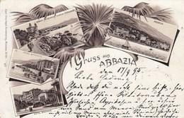 ABBAZIA-CROAZIA-GRUSS AUS-CARTOLINA VIAGGIATA IL 17-9-1895 - Croatia