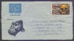 KENYA Postal History, GORILLA Aerogramme Used 1982, Origins Of Mankind - Kenya (1963-...)