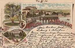 ABBAZIA-CROAZIA-GRUSS AUS-CARTOLINA VIAGGIATA IL 16-2-1898 - Croatia