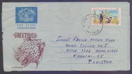 KENYA Postal History, LEOPARD Aerogramme Used 1981, International Year For Disabled Persons - Kenya (1963-...)