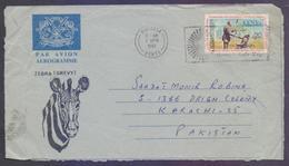 KENYA Postal History, ZEBRA Aerogramme Used 2.4.1981, With Slogan Postmark, International Year For Disabled Persons - Kenia (1963-...)