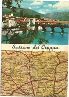 W2359 Bassano Del Grappa (Vicenza) - Carta Geografica Map Carte Geographique - Panorama Vedute Multipla / Viaggiata 1970 - Carte Geografiche
