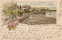 ABBAZIA-CROAZIA-GRUSS AUS-CARTOLINA VIAGGIATA IL 1-11-1894 - Croatia