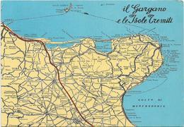 W2360 Gargano (Foggia) - Carta Geografica Map Carte Geographique / Non Viaggiata - Carte Geografiche