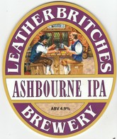 LEATHERBRITCHES BREWERY (SMISBY, ENGLAND) - ASHBOURNE IPA - PUMP CLIP FRONT - Uithangborden