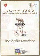 W2362/3 Esposizione Filatelia Numismatica - 50 Anniversario Roma Giochi Della XVII Olimpiade 1960 2010 / Non Viaggiata - Esposizioni