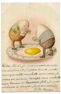 Oeufs Humanisés Pleurant En Regardant Un Oeuf Au Plat - Ostern