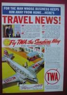 ORIGINAL UNDATED  MAGAZINE ADVERT FOR TWA  AIRLINES - Advertising