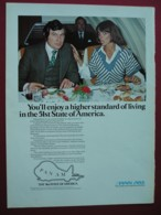 ORIGINAL 1977  MAGAZINE ADVERT FOR PAN AM  AIRLINES - Advertising