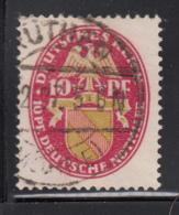 Germany 1926 Used Sc B16 Mi 399 Y 10pf + 10pf Baden Dated 1926 Horizontal Wmk - Deutschland