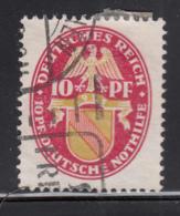 Germany 1926 Used Sc B16 Mi 399 Y 10pf + 10pf Baden Dated 1926 Horizontal Wmk - Allemagne