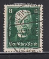 Germany 1927 Used Sc B19 Mi 403 8pf Pres. Paul Von Hindenburg - Allemagne