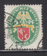 Germany 1928 Used Sc B28 Mi 430 5pf + 5pf Hamburg Dated 1928 - Allemagne