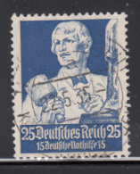 Germany 1934 Used Sc B66 Mi 563 25pf + 15pf Sculptor - Allemagne