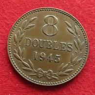 Guernsey 8 Doubles 1945 KM# 14 Lt 205  *V2 Guernesey - Guernsey