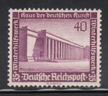 Germany 1936 MNH Sc B101 Mi 642 40pf + 35pf Museum Of German Art, Munich - Allemagne