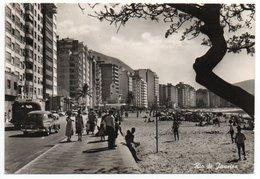 BRESIL/BRAZIL/BRASIL - RIO DE JANEIRO VIEW /BEACH-VOLLEY / OLD CARS / VIA AEREA - ALITALIA LABEL - Rio De Janeiro