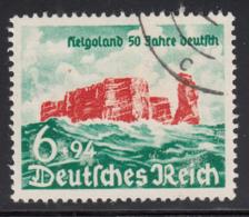 Germany 1940 Used Sc B176 Mi 750 6pf + 94pf Rocky Cliffs Of Heligoland - Allemagne