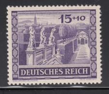 Germany 1941 MNH Sc B199 Mi 805 15pf + 10pf Belvedere Gardens, Vienna - Allemagne