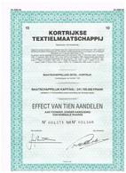 Titre Ancien - Kortrijkse Textielmaatschappij - Titre De 1980 - - Textiel