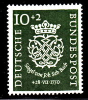 Germany 1950 MH Sc B314 Mi 121 10pf + 2pf Seal Of Johann Sebastian Bach - [7] République Fédérale