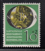 Germany 1951 MH Sc B318 Mi 141 10pf + 2pf Stamps Under Magnifying Glass - [7] République Fédérale